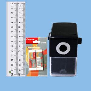 Ruler, Eraser and Sharpener