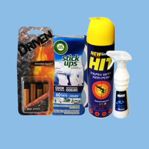 Désodorisant et insecticides